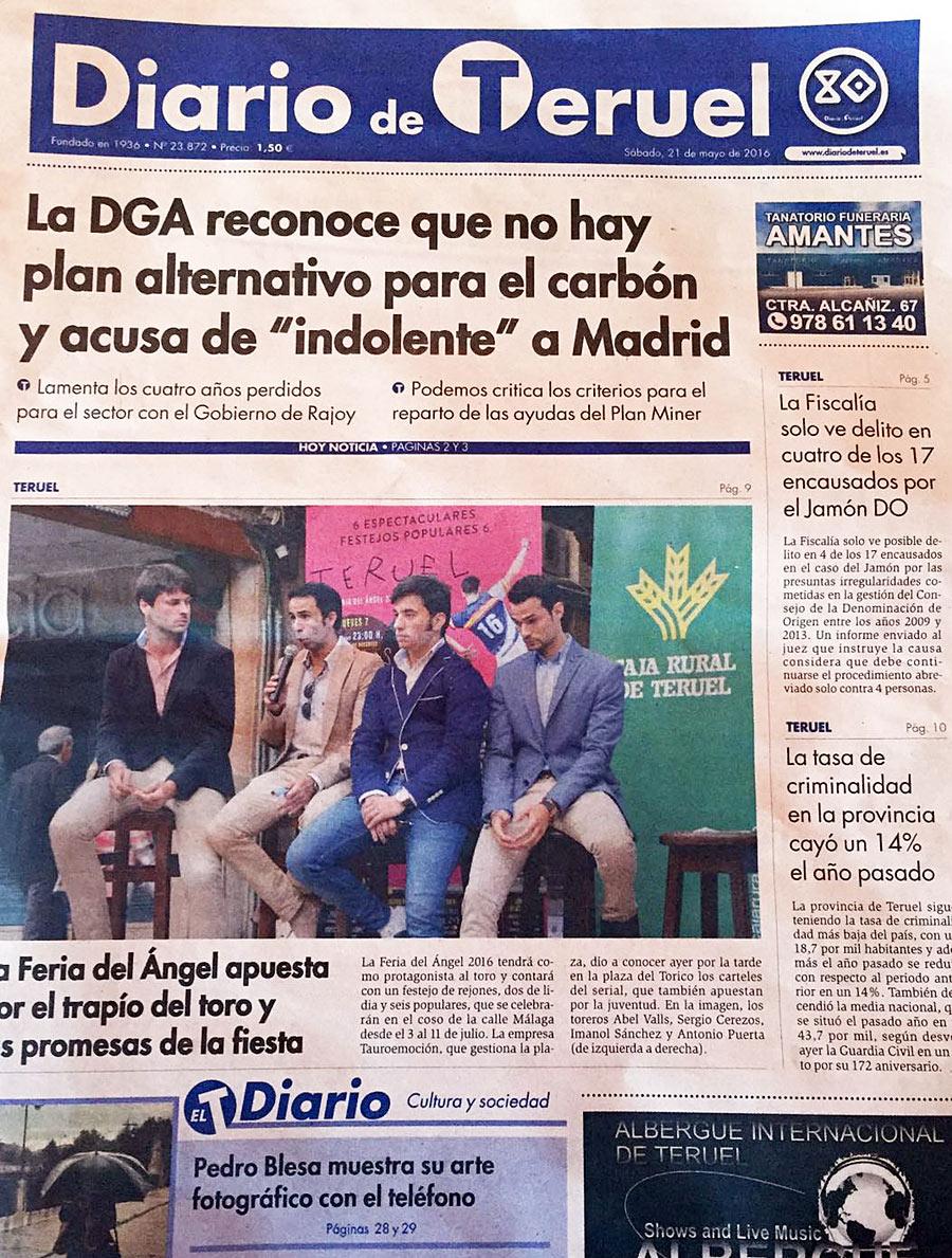 Feria Taurina del Ángel 2016 en la prensa