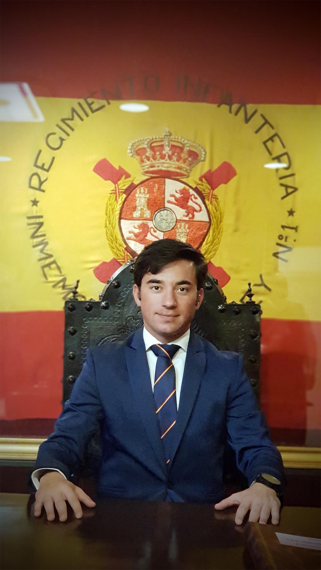 Imanol Sánchez en el Cuartel General del Ejército