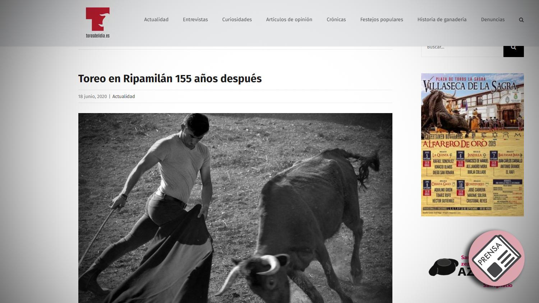 Titular Toros de Lidia Tentadero Histórico en Ripamilan