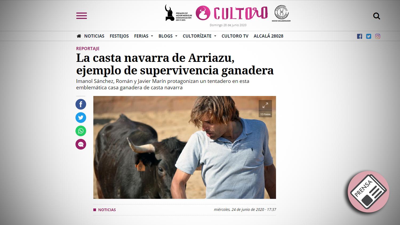 Titular Cultoro Casta Navarra Arriazu