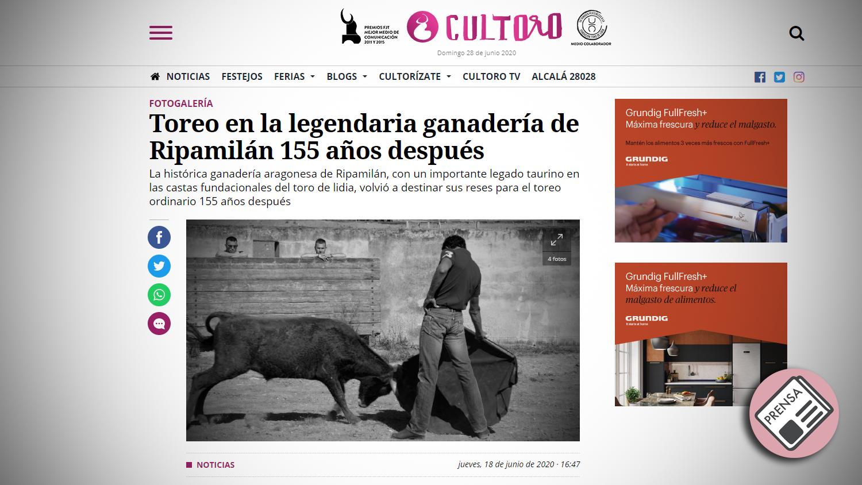 Titular Cultoro Tentadero Histórico en Ripamilan