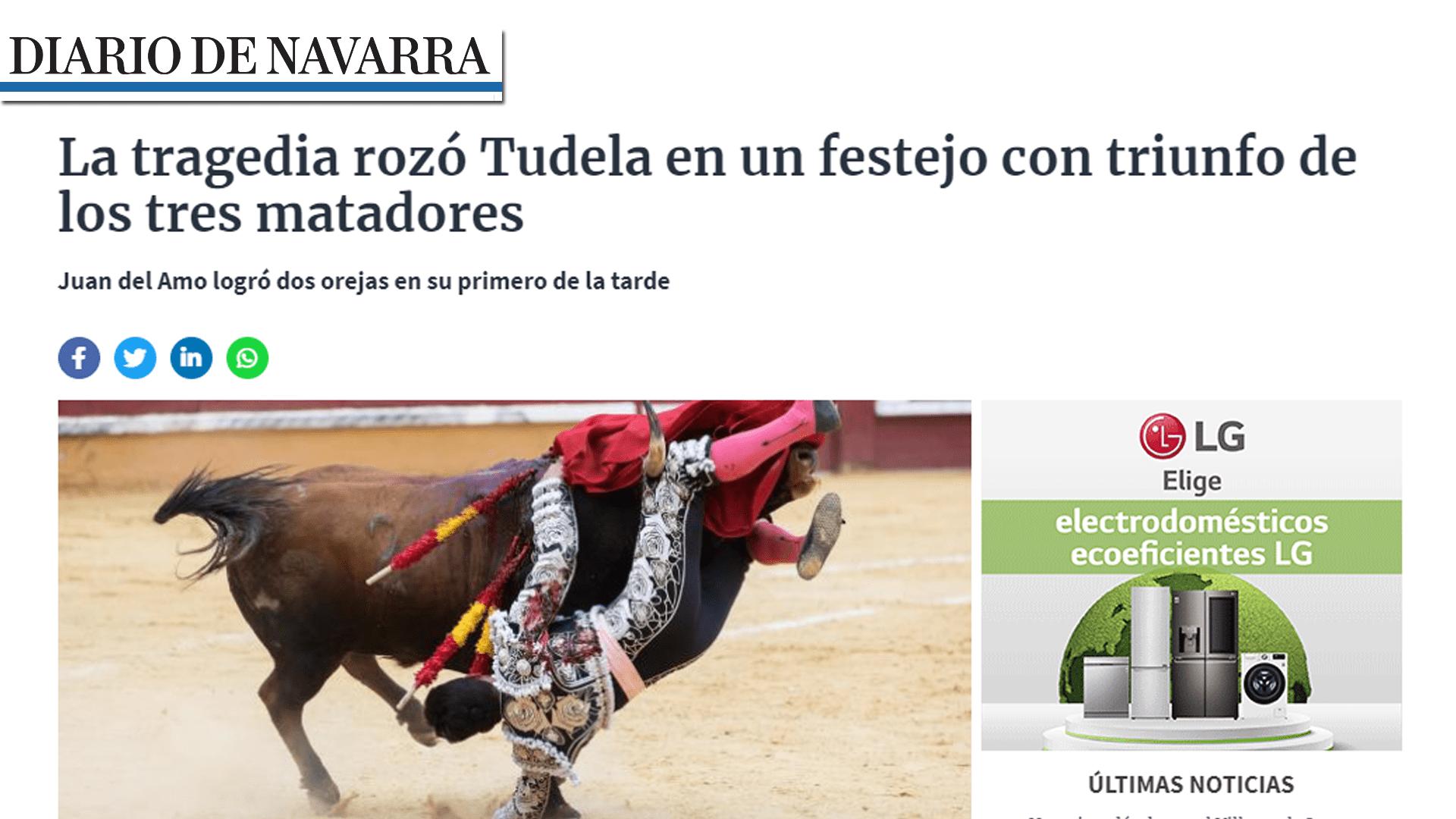 Imanol Sánchez Puert Grande Tudela Portada Diario de Navarra-min