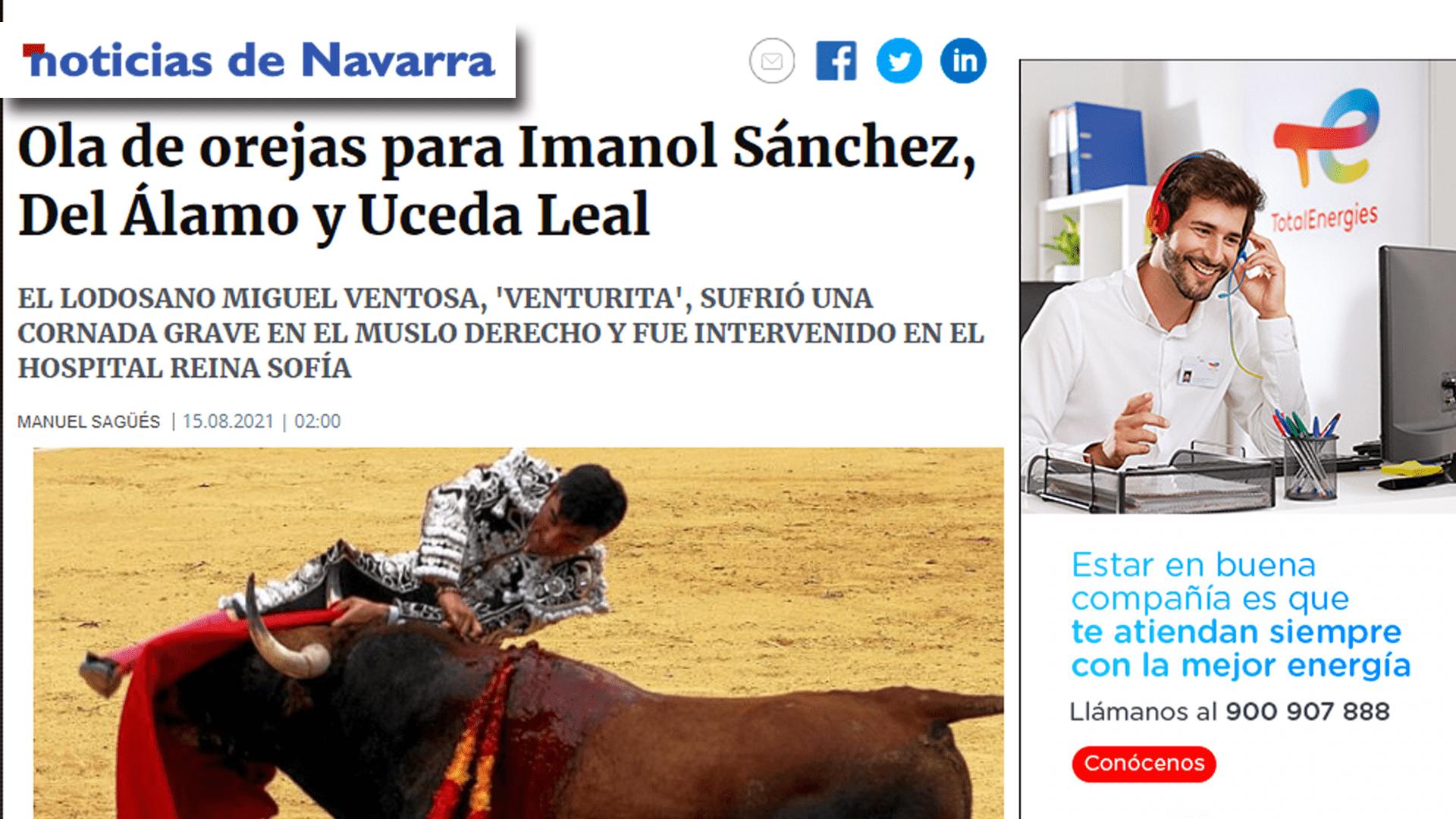 Imanol Sánchez Puert Grande Tudela Portada Diario de Noticias-min